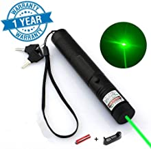 Dinsom Green Light Pointer High Power Visible Beam with Adjustable Focus for Hunting Hiking