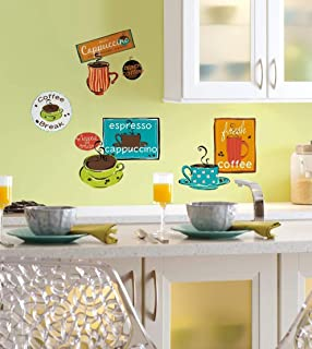 RoomMates Cafe Peel and Stick Wall Decals