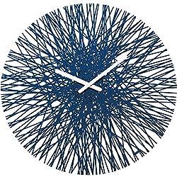 Koziol Silk Wall Clock, Deep Velvet Blue