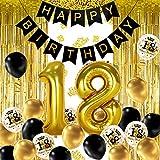 iZoeL 18 ans déco anniversaire Or noir,...