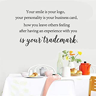 ovadeo Motivational Wall Sticker Quotes Your Smile is Your Logo for Living Room Study Room Nursery Kids Room