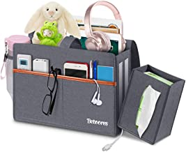 Betoores Bedside Organizer Felt Bed Storage Caddy with Tissue Box, Hanging Bag with Water Bottle Holder for Bunk Beds, Be...