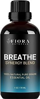 Breathe Essential Oil Blend by Fiora Naturals- Synergy Blend of Peppermint, Eucalyptus, Tea Tree, Lemon & Cardamon to Boos...