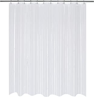 Mrs Awesome Short Shower Curtain or Liner 66 inch Length, Clear PEVA 8G, Water-Proof, Non-Toxic and Odorless