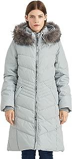 Women's Down Jacket Winter Long Parka Coat with Raccoon Fur Hooded