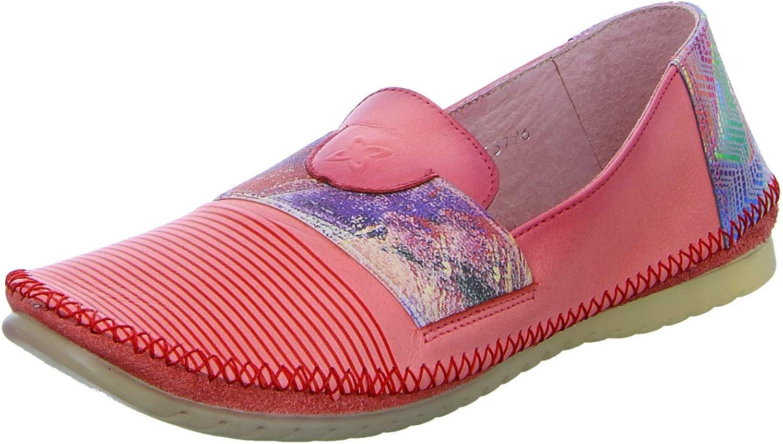 Maciejka Women Flat Slipper red, (red-Kombi) 03915-08 00-5