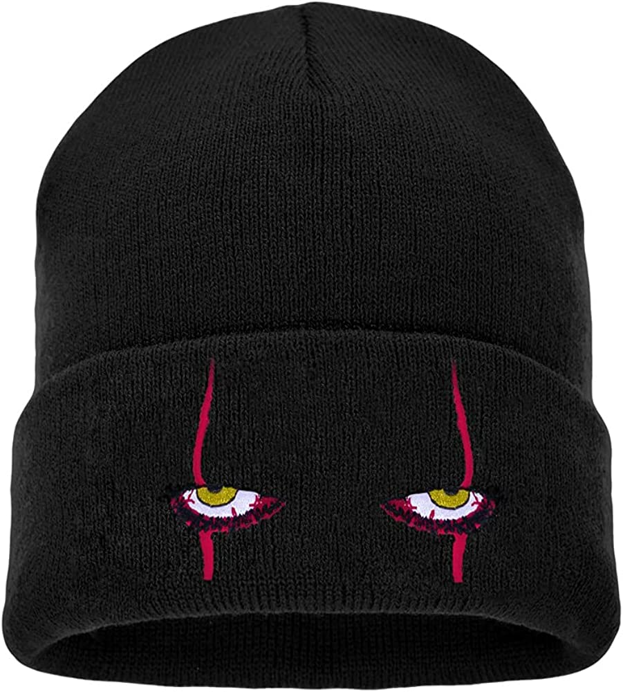 HUIYAO Embroidered Scary All items free shipping Eyes Knit Spasm price Hat Beanie Pennywise Dancing