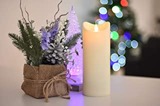 Flamelike Candles - Flameless Incredibly Realistic Non Wax LED Moving Wick Flame Candle with Timer. Battery Operated. Unscented. Best Flickering Action. Great Gift Idea (Flamelike Candles 3.5 x 9)