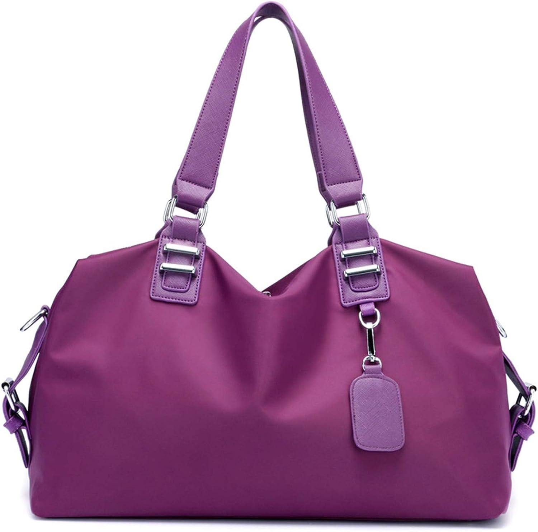 Shoulder Bags Ms. Oxford Cloth Large-Capacity Solid color Casual Fashion Hobo Travel Bag Waterproof Multi-color Portable Messenger Bag 21L Shopping Storage Bag Student Bag