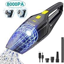 HIMOX Aspirador de Mano Sin Cable Potente de 8000Pa