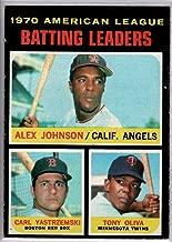 Baseball MLB 1971 Topps #61 Alex Johnson/Carl Yastrzemski/Tony Oliva AL Batting Leaders