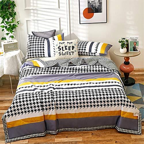 Chickwin Tagesdecke Bettüberwurf Gesteppt, Mikrofaser Tagesdecke Schlafzimmer Steppdecke Decke Überwurf Wohnzimmer Sofaüberwurf für Einzelbett Doppelbett (150x200cm,Hahnentritt)