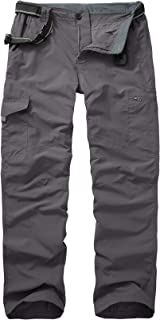 linlon Hiking Pants for Men, Quick Dry Fishing Camping Travel UPF 50+ Cargo Pants with Pockets