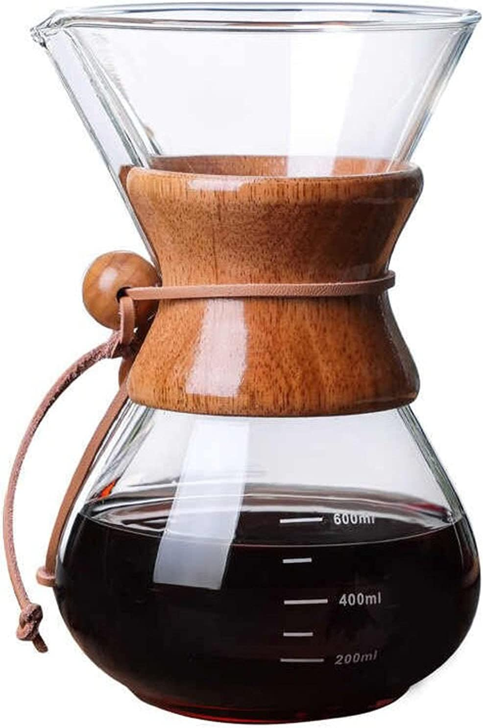 Coffee Pots - 600ml Resistant Coff New life Maker Long-awaited Pour-over Glass