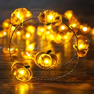 mini pumpkin string lights