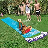 Wasserrutsche Gartenschlauch,475cm Wasserbahn Kinder Draußen Pool Groß Rutsche Für Den Garten Bauch Wasserspiele Rutsche