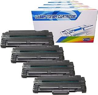 Inktoneram Compatible Toner Cartridges Replacement for Samsung D105L MLT-D105L MLTD105L ML-1910 ML-1915 ML-2525 ML-2525W ML-2580N SCX-4600 SCX-4623F SCX-4623FN SF-650 SF-650P (Black, 4-Pack)
