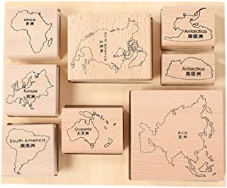 Stamp Set of Montessori Toddler The Seven Continents, STEM Toy Learning for Boys And Girls Aged