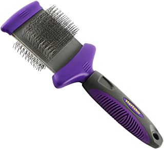 Double Sided Flexible Slicker Brush By Hertzko - Removes Loose Hair, Tangles, and Knots, - Flexible Head Contours on Your ...