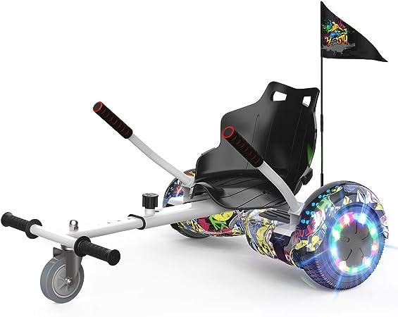 NEOMOTION Hoverboard de Overboard 6.5 Pulgadas y Hoverkart Patinete Eléctrico con Bluetooth LED Flash Scooter Eléctrico con Asiento de Ruedas ...