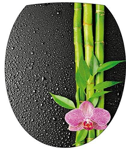 StickersNews Adesivo per asse WC, motivo: fiore di bambù