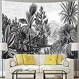 Tapiz de cebra tapiz de palmera mono y pájaros manta hippie naturaleza animal tapiz...