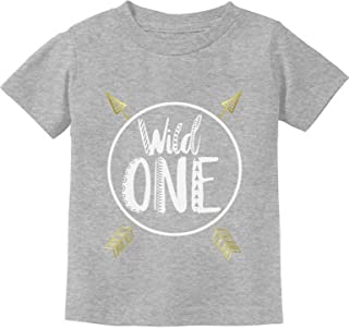 Wild One Baby Boys Girls 1st Birthday Gifts One Year Old Infant Kids T-Shirt - Gray - 12M