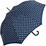 Knirps Stockschirm Damen Automatik Polka dots - Navy-White