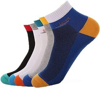 Bonlor Calze da uomo in pelle di vitello confezioni di cotone ricche di design carino e calzini comodi e colorati