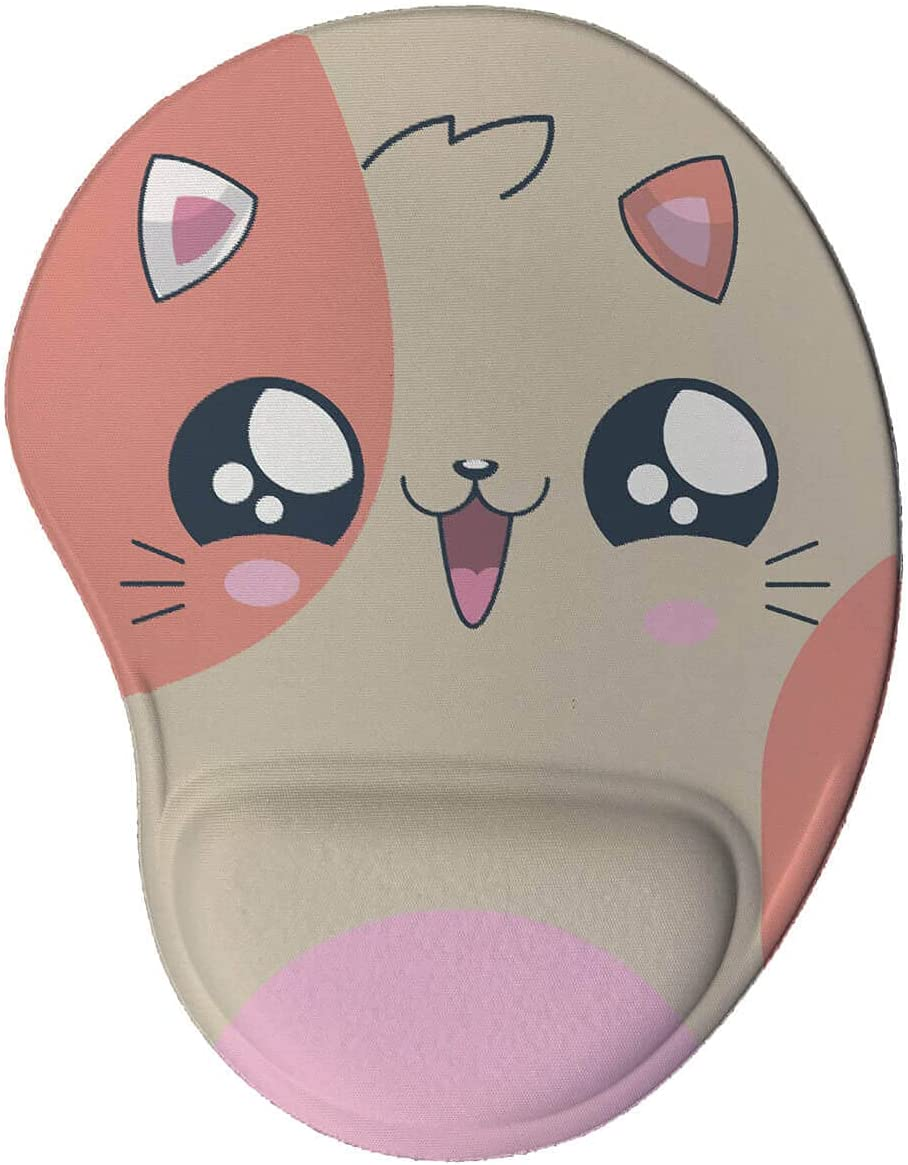 Mouse pad Ergonômico Gatinho Kawaii Presente Criativo Geek cor:Marrom