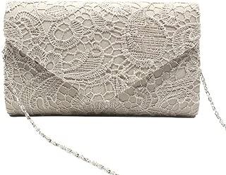 OVERyouzzh-Women's Elegant Lace Dinner Bag Evening Prom Handbag Purse