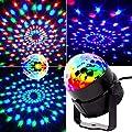 Mini stage lights, EJBOTH Magic ball lamp RGB LED stage effect Rotating Party Light crystal ball Sound Activated + Remote Control Atmosphere Bulb for Disco KTV Xmas Bar Club Christmas DJ Pub [UK Plug]