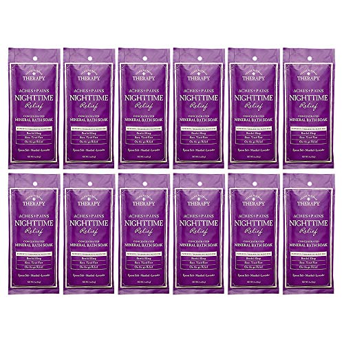 Village Naturals Therapy, Mineral Bath Soak, Aches & Pains Nighttime Relief, 2 Oz, Pack of 12
