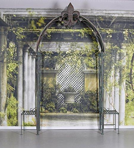 Gartentor Rosenbogen Garten Torbogen Rankgitter Schmiedeeisen Antik Palazzo Exklusiv