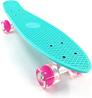wonnv Retro Mini Cruiser 22 inch Complete Skateboard