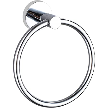 Stainless Steel Towel Round Ring Bathroom Shower Hand Towel Holder Wall-mounted