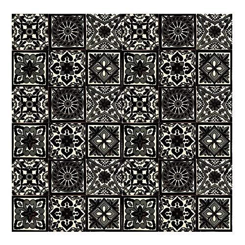 Ferran - 30 mexikanische Fliesen 10x10 cm Talavera Badezimmer- und Küchenfliesen Dekoration für Badezimmer, Dusche, Treppen, Küchenrückwand, Zementfliesen, marokkanische Designs
