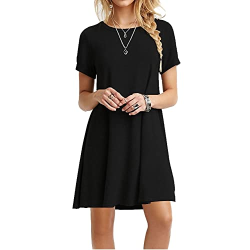 88b3c1f8b6 MOLERANI Women s Casual Plain Simple T-Shirt Loose Dress