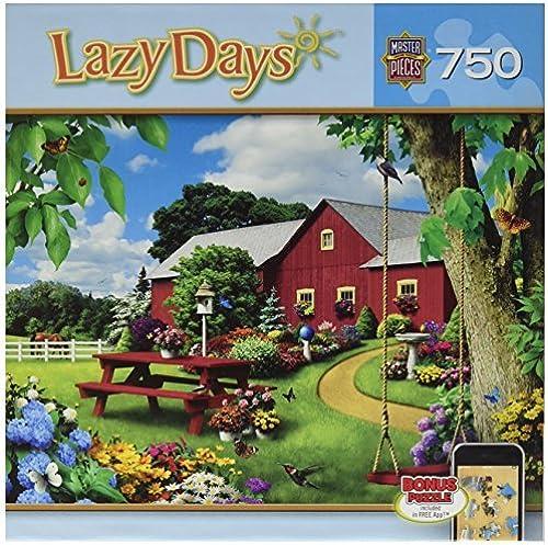 ofreciendo 100% MasterPieces Puzzle Company Lazy Days Picnic Paradise Paradise Paradise Jigsaw Puzzle (750-Piece), Art by Alan Giana by MasterPieces  compras online de deportes