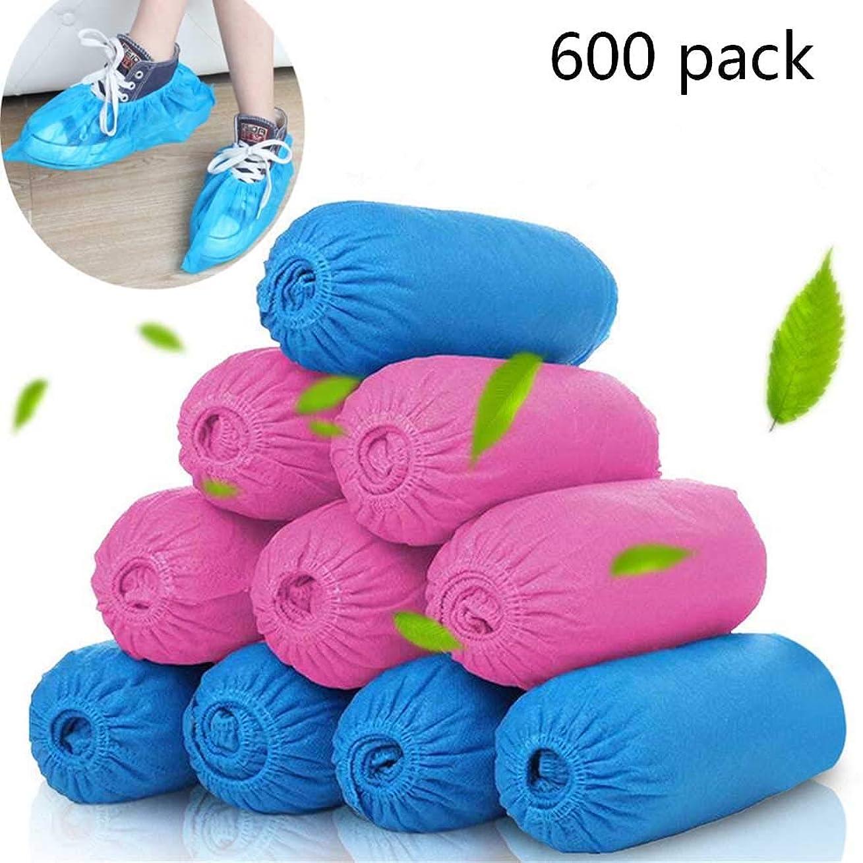 蓄積する五十パシフィック使い捨て靴カバー医療機関、滑り止め、再使用可能、防水大サイズ最適ブルー600カウント