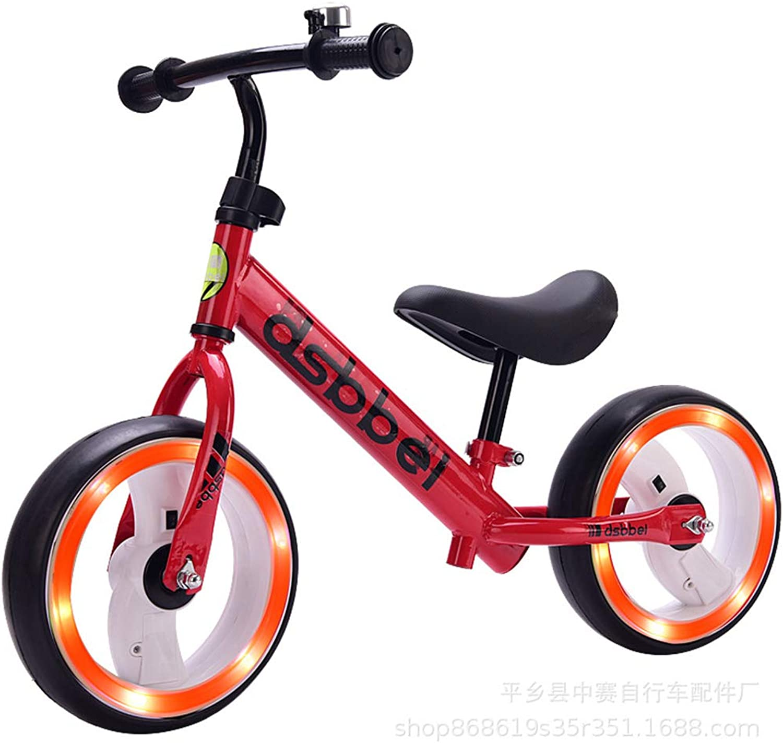 Kids Balance Bike No Pedal Walking Sport Bicycle, Adjustable Training Toddler Bike for 2 to 6 Year Old Boys & Girls Adjustable Handlebar and Seat