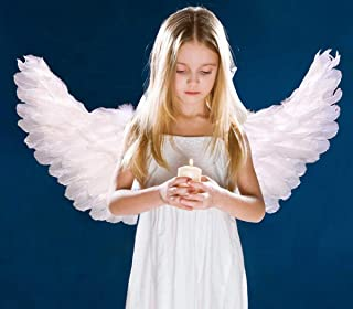 Children's White Feathers Angel Wings Costumes for Cosplay Halloween Party