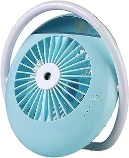 SHANGRUIYUAN-Mini Fan 2000mAh Battery Multifunction Fan Mini Portable Table Fan for Home Outdoor Office (Color : Blue)