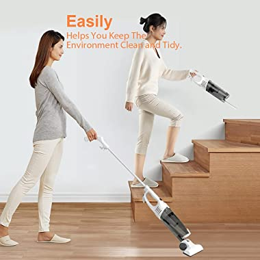 Corded Vacuum Cleaner,2 in 1 Swivel Ultra Lightweight Handheld Vacuum Cleaner,15KPa 800W Powerful Suction Stick Vacuum with C