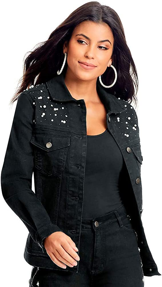 Pearl-Embellished Jacket Limited time cheap sale Gifts