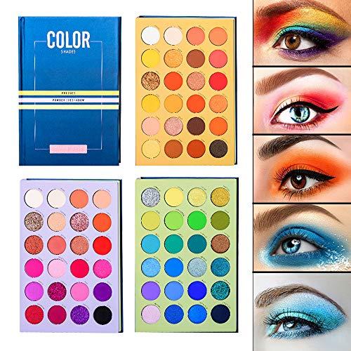 Beauty Glazed Paleta de sombras de ojos de 72 colores Alta pigmentación Impermeable Fácil mezcla Brillo Sombra de ojos mate Paleta de maquillaje todo en uno Nude