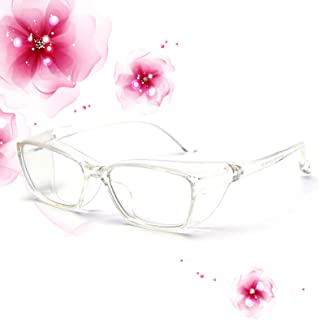 Anti Fog Safety Glasses Goggles for women Blue Light Blocking eye protection With Side Shields safety glasses Anti Pollen ...
