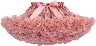 Happy Cherry - Falda de Tutú para Bebés de Princesa Vestido de Tul de Capas de Volantes con Cinta de Bowknot para Danza Boda Fiesta Partido Disfraz para Infantiles Niña de 0-2 Años - Blanco