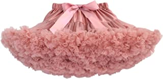 Falda de Tutú para Bebés de Princesa Vestido de Tul de Capas de Volantes con Cinta de Bowknot para Danza Boda Fiesta Partido Disfraz para Infantiles Niña de 0-2 Años - Blanco