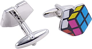 Epinki Men Colorful Cube Cufflinks for Tuxedo Shirts Gift for Father's Day Wedding Anniversary Birthday